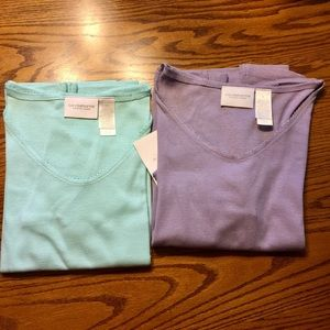 Bundle of 2 NWT Liz Claiborne shirts.